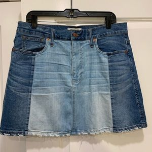 Made well Two-Tone Denim Skirt